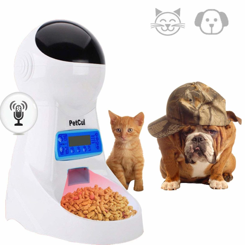 PetCul Voice Recorder Automatic Feeder for Cats